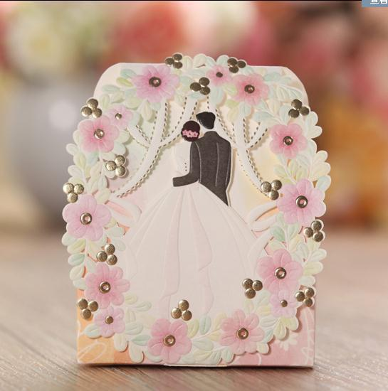 wedding candy flower floral mariage korean elegant romantic decoration laser cut sweet party 50pcs paper gift - Aliexpress Decoration Mariage