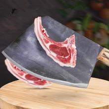CZQ Carbon Steel Forged Professional Chef Chopping Bone Knife Cutting Big Bone Firewood Knives Kitchen Cutting
