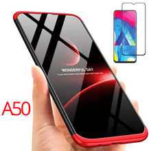 360 Full Case for Samsung A50 PC Tempered Glass Film For Galaxy A5 2019 Cover Protection a50 Phone