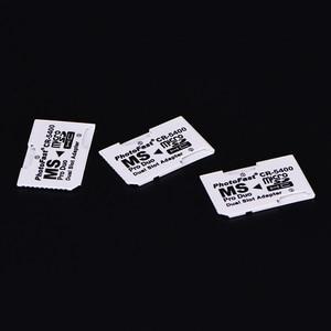 Двойной 2-слотный Супер Скоростной кард-ридер Micro SD TF для карты памяти, адаптер MS Pro, Белый Duo для камеры PSP