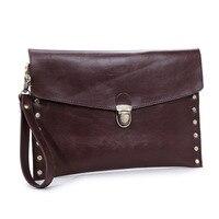 New 2016 Fashion Men Handbag PU Leather Women Men Briefcase Casual Hasp Envelope Bag Business Men