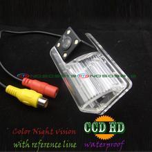 Alambre sin hilos del coche CCD cámara de visión trasera Con 4 LED HD de La Cámara Para Toyota Avensis 2006-2008