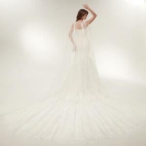 Image 3 - Fansmile Vestido דה Noiva מותאם אישית בתוספת גודל תחרת בת ים שמלות כלה 2020 תמונה אמיתית בציר כלה חתונה שמלות FSM 112M