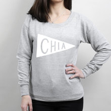 цена на Chia Scoop Neck Women's Sweater - superfoods sweatshirt, slogan sweater, typography-E248