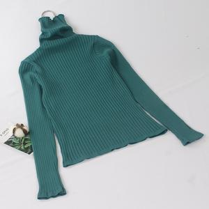 GIGOGOU Turtleneck Women Knitted Sweater Pullovers Jumper