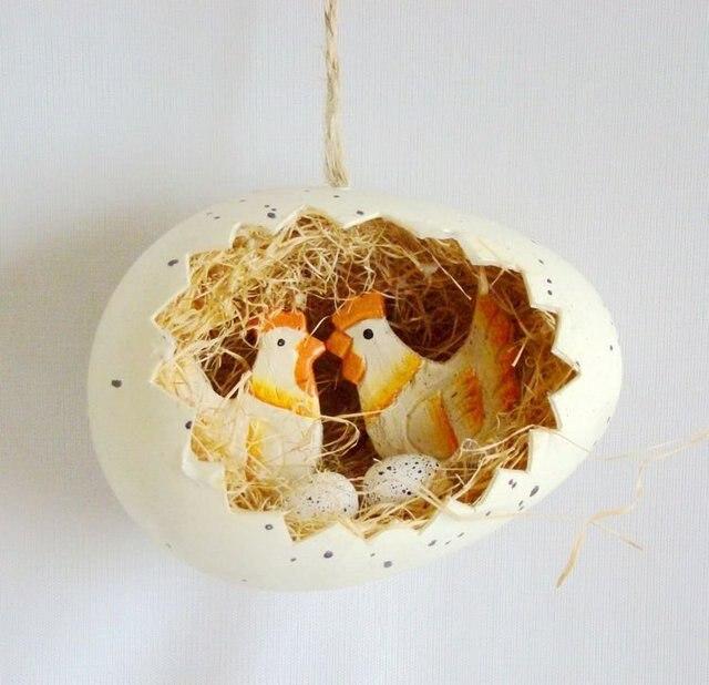 easter decorations-easter ornament-eggs shaped nest hanger-by randomly