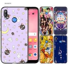 Silicone Case Cover for Huawei P20 P10 P9 P8 Lite Pro 2017 P Smart+ 2019 Nova 3i 3E Phone Cases Sailor Moon стоимость