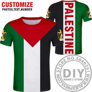 Image 3 - Palestyna t shirt diy za darmo na zamówienie nazwa numer palaestina koszulka PLE flaga narodowa tate carrinina college drukuj logo odzież