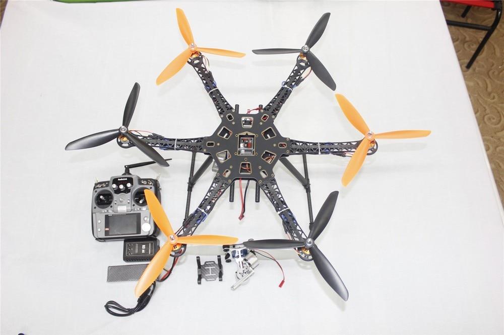 JMT DIY Drone Quadcopter Upgraded Full Kit HMF S550 9045 3-Propeller 6axle Multi Hexacopter UFO RTF/ARF & 2-axle Gimbal jmt diy drone f550 multi rotor full kit 1045 3 props 6 axle rc multi hexac
