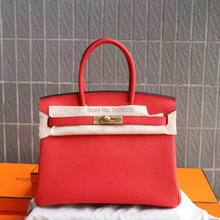 2017 women luxury brand runway red cowhide skin handbags