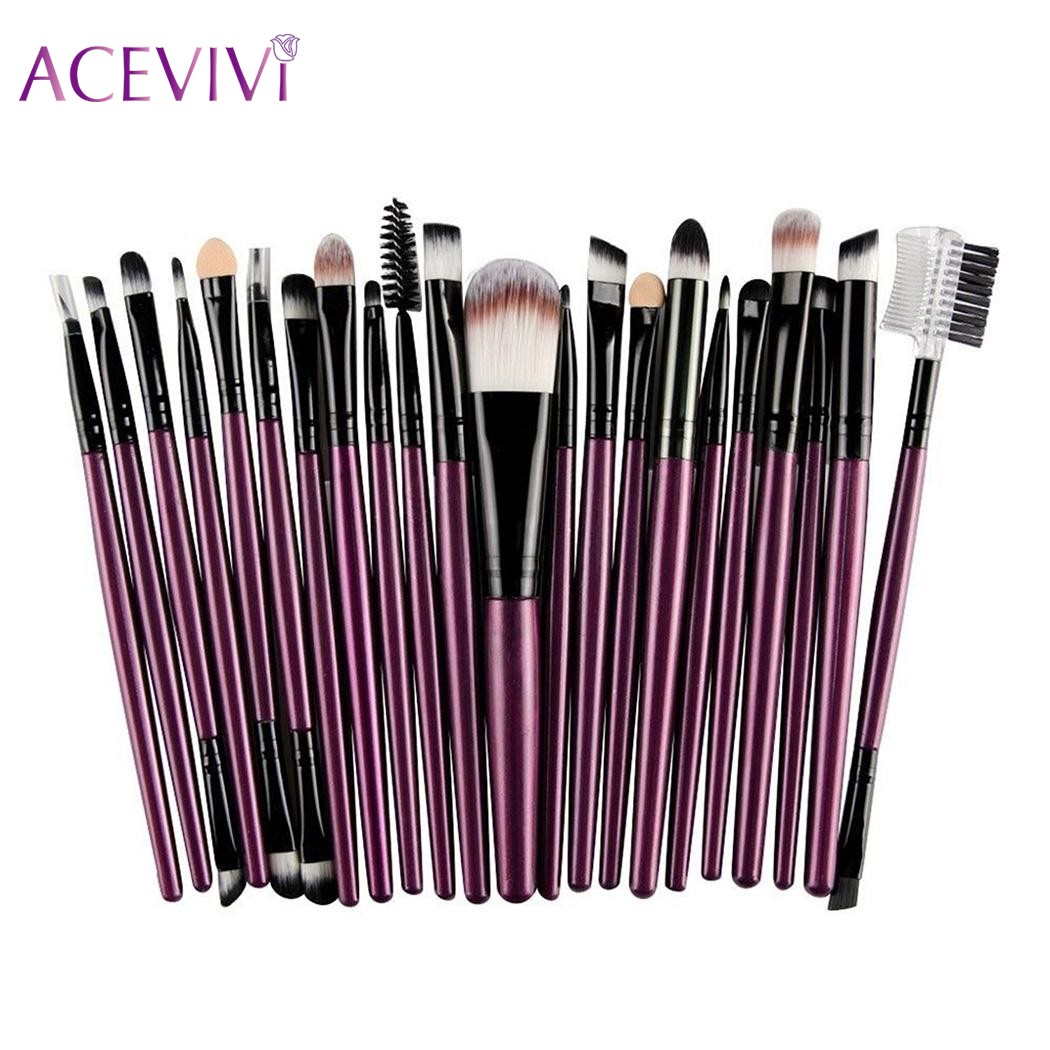 ACEVIVI Pro 22Pcs Makeup Eye Brush Tool Set Eyeshadow Power Foundation Eyebrow Eyelash Lip Brush Makeup Brushes Cosmetic Tools