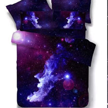 3D Bedding Sets Universe Outer Space Blue Galaxy New 4/3/2pcs Quilt Duvet Cover Bed Sheet Sell Pillowcase Twin Full Queen(China)