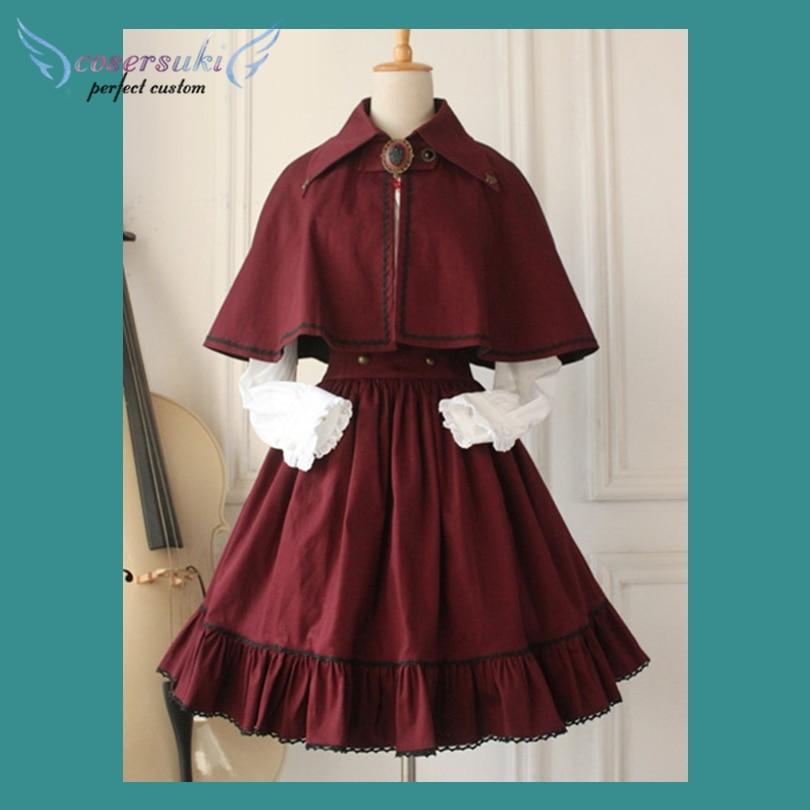 Gothique Lolita robe croix régression victorienne Vintage SK Lolita jupe! Le plus récent!