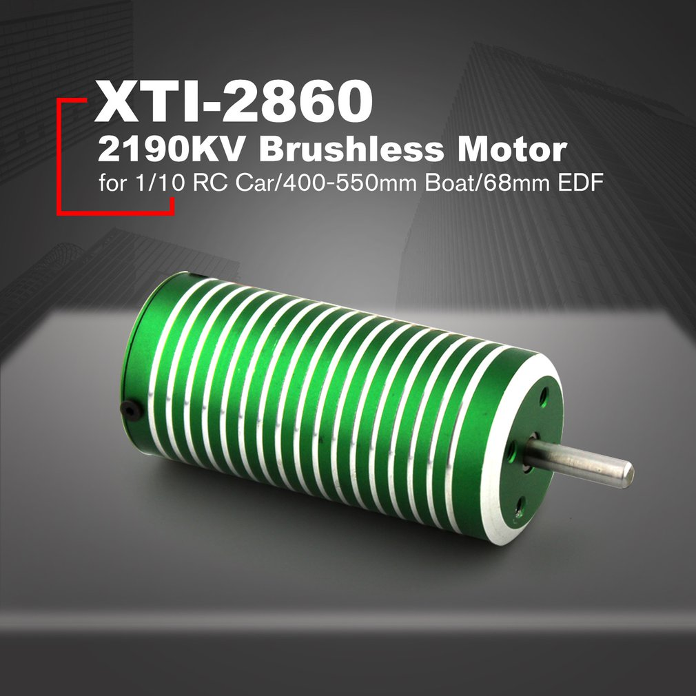 XTI-2860 2190KV/2040KV/1840KV 4mm Brushless Sensorless Motor for 1/10 Buggy Big Foot RC Car/400-550mm Boat RC Ship/68mm EDF Part
