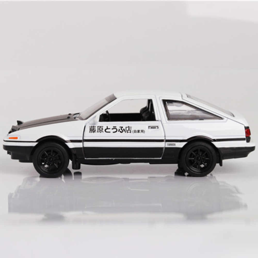 1:28 Initial D Toyota Corolla AE86 Alloy Car Models Trueno Metal Diecast Fast Auto Pull Back Toys Supercar For Collection