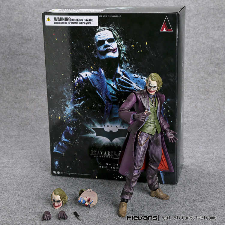 JOGUE ARTS KAI Batman The Dark Knight The Joker Ação PVC Figura Modelo Brinquedo Colletible 21 cm