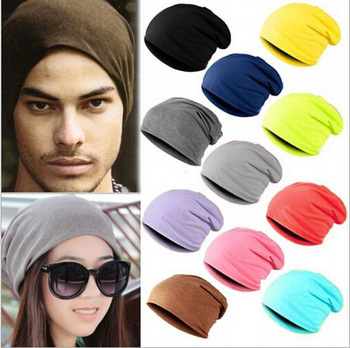 Fashion New Unisex Women Men Knitted Knit Winter Warm Crochet Slouch Hat Cap Cotton Blends Beanie 13 Color novelty women men winter warm black full face cover three holes mask beanie hat cap fashion accessory unisex free shipping
