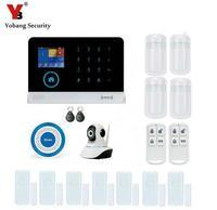 Yobang Security APP Alarms Home Security System RFID WIFI GSM Alarma HD Network Camera Window Door
