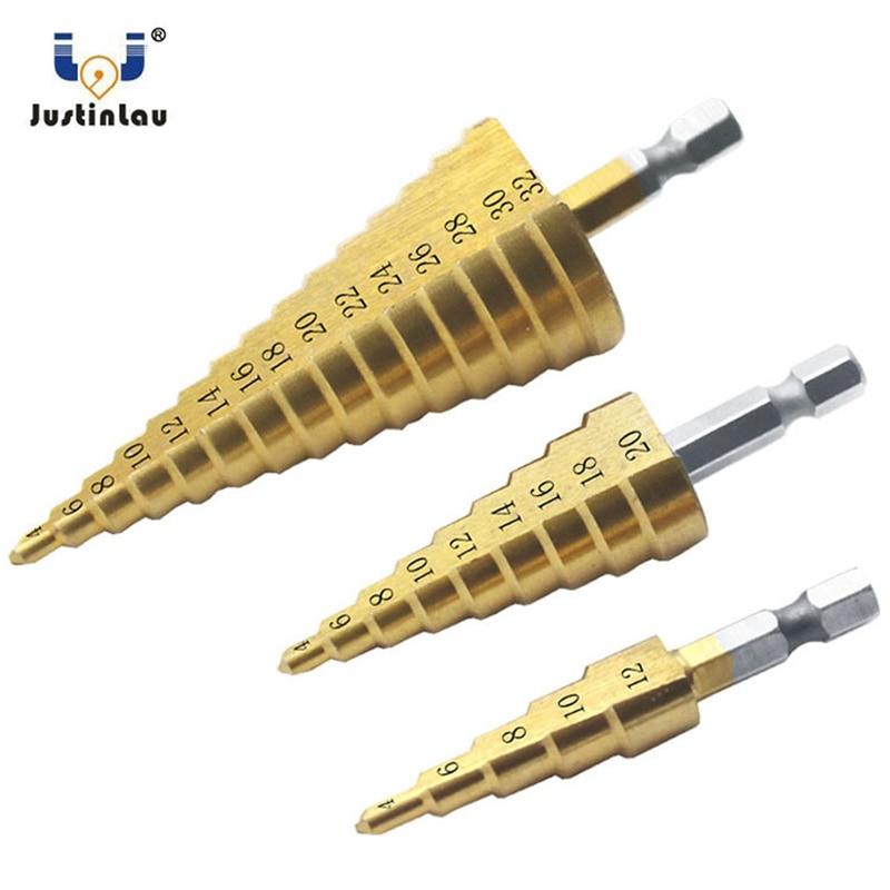 JUSTINLAU Drill Bits Set 3pcs 1/4