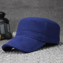 [AETRENDS] Winter Flat Hats for Men 100% Cotton Warm Baseball Cap Z-1914