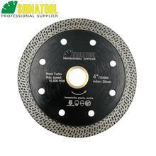 Купить с кэшбэком SHDIATOOL 1pc Dia 105/115/125mm Hot-pressed Sintered Diamond Blade Cutting Disc Marble Mesh Turbo Blade Tile Ceramic SawBlade