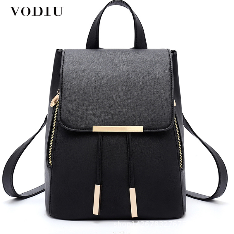 Mini Korean Backpack Girls Schoolbag Backpack Leather Rucksack Casual Bagpack For School Girls Small Backpacks Female Sac A Dos