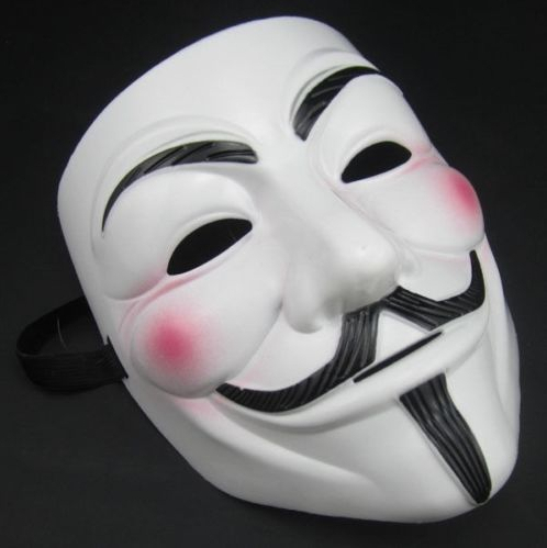 V For Vendetta Movie White Costume Mask Guy Fawkes Anonymous Cosplay - Կարնավալային հագուստները - Լուսանկար 1