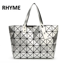 BaoBao Diamond Woman Handbag Issey Miyak Plaid bag Tote Geometry Sequins Saser Plain Folding Briefcase Shoulder Bolso with Logo
