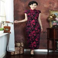 Plus Size Fashion Red Vintage Chinese Lady Handcraft Beads Half Cheongsam Top Chinese Tradition Qipao Size S M L XL XXL 3XL