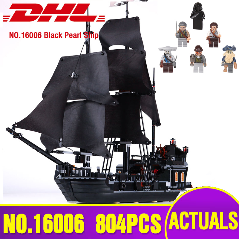 Ship from Spain 16006 Pirates of the Caribbean The 4184 Black Pearl Set Building Blocks Bricks Assembly Kids Christmas Toys Gift