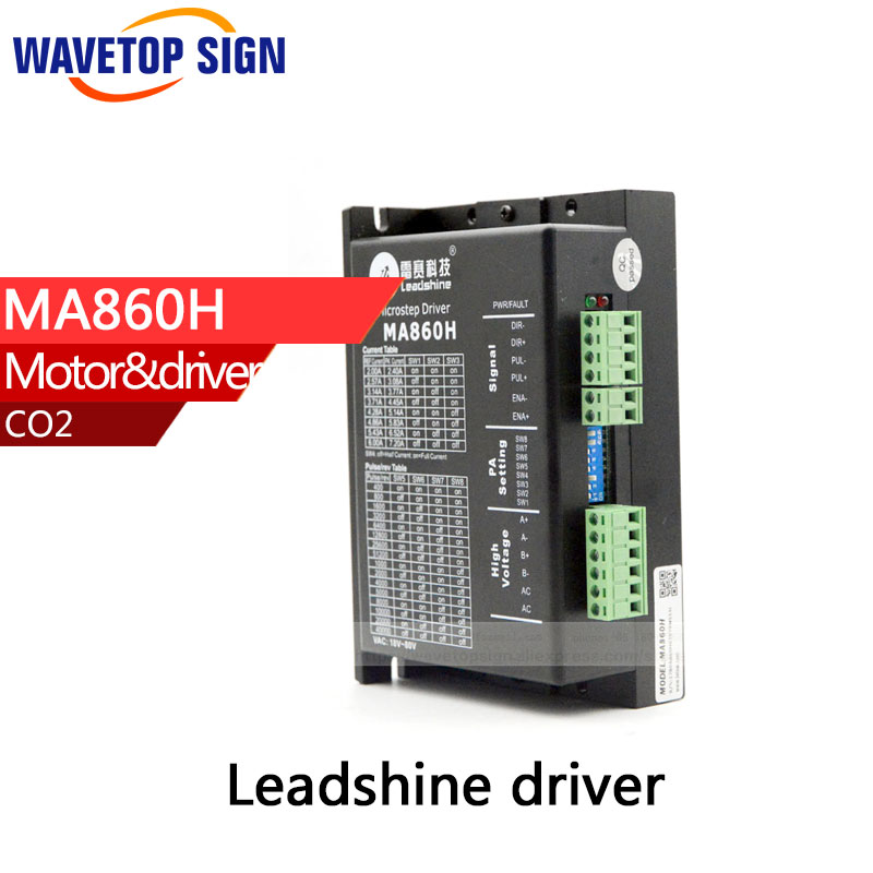 free shipping leadshine MA860H driver use for cnc router /cnc cutting machine parts leadshine drive dcs810 digital dc servo driver use for prinnter machine etc