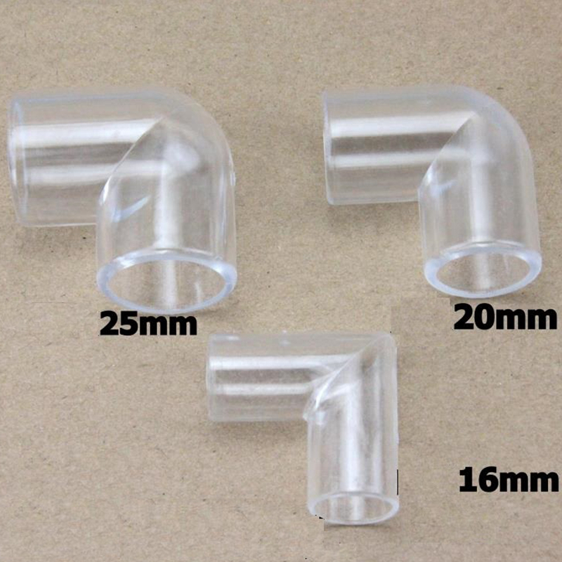 5PCS 90 Degrees Elbow Acrylic Transparent Tube Fittings ...