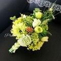 2017 Boho Wedding Bridal Bouquet Bridesmiad Holding Artificial Flower High Qaunlity Wedding Accessories Bride Brooch Bouquet