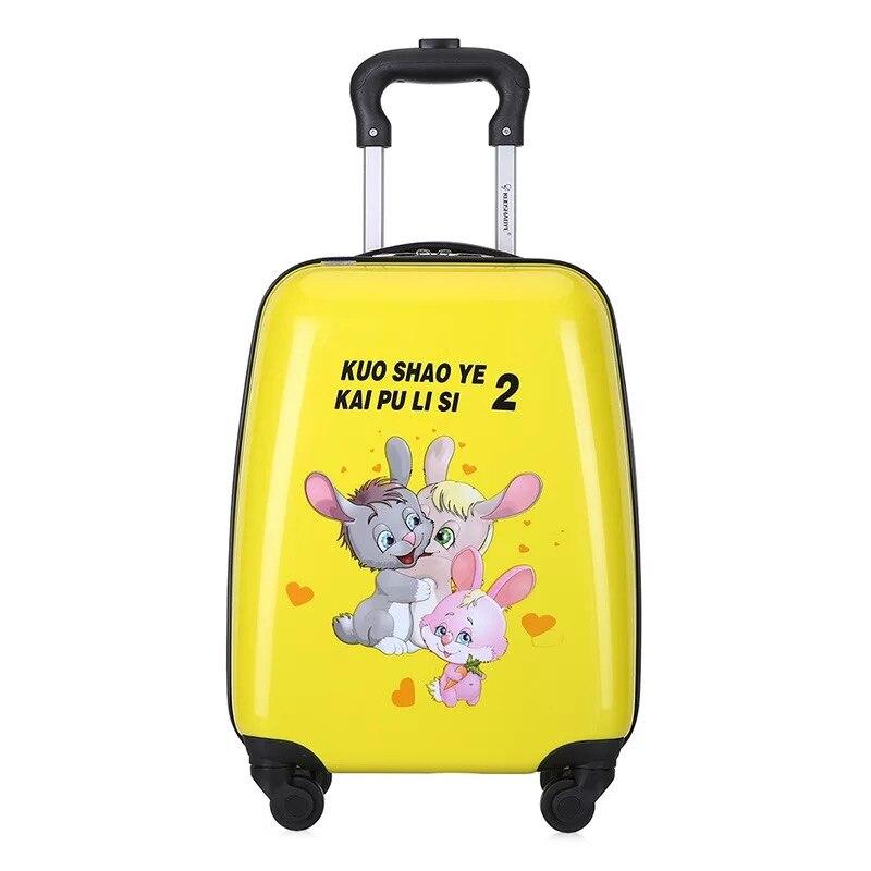 Dla dzieci anime etui na wózek chłopiec szkoła podróży walizka toczenia walizka dziewczyna różowy cartoon wózek torba dla dzieci torba na bagaż na kółkach w Walizki od Bagaże i torby na  Grupa 3