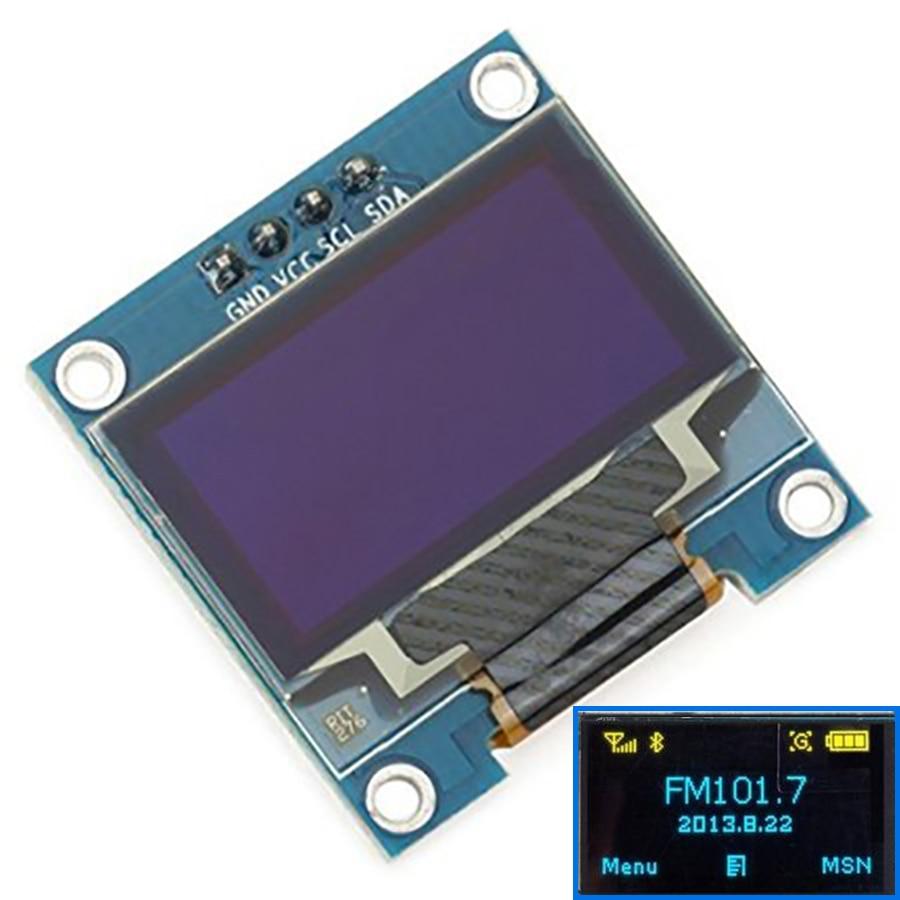 10PCS Yellow, blue double color 128X64 OLED LCD LED Display Module 0.96 I2C IIC Communicate