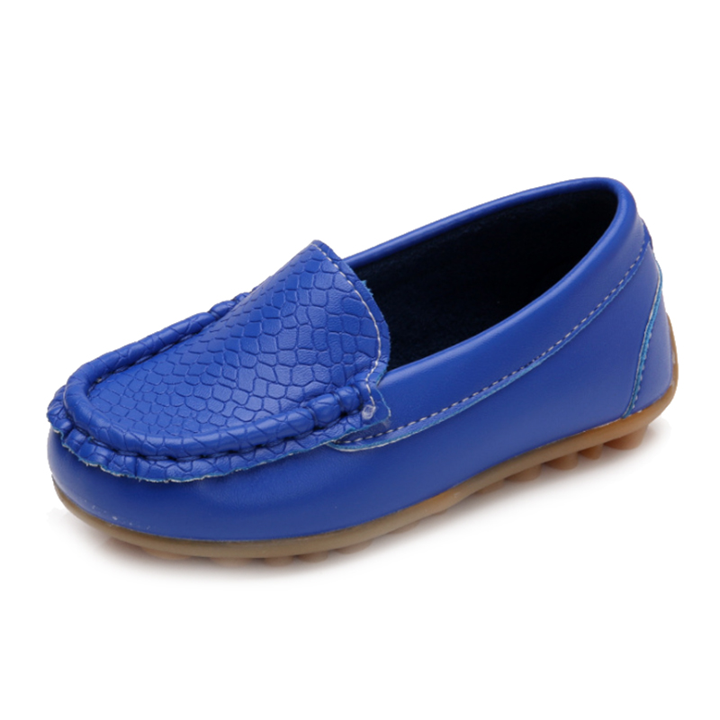 New Children Shoes Classic Fashion PU Shoes for Girls Boys Shoes Flat Casual Kids Shoes(Royal Blue)