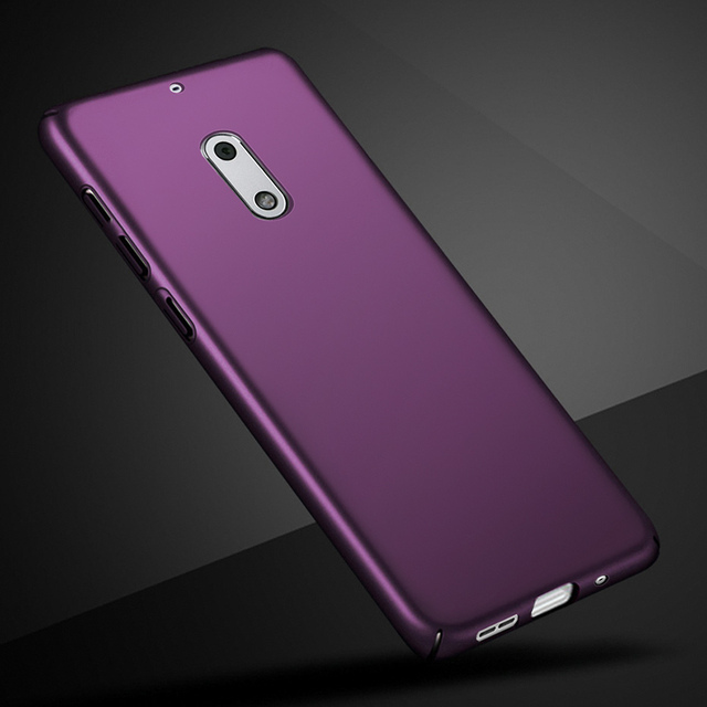 brand new 14b45 205b3 US $1.51 24% OFF|Original For Nokia6 Nokia 6 Mobile phone case 360  protevtion cover shell skin Luxury Silm Hard Frosted PC Back cases bumper  5.5