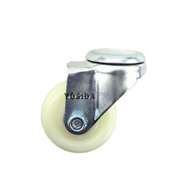 Nuevo 3 ''Ruedas Giratorias Ruedas Univeral 12mm Tornillo Silencio de Caucho de Nylon de Ricino Industrial Pesado del Balanceo de 360 Grados ruedas