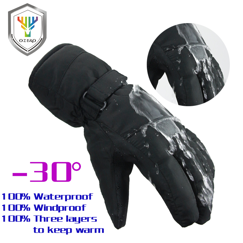 Imported From Abroad Ozero Winter Gloves Warm Ski Skiing Snowboard Motorcycle Riding Sports Windproof Waterproof Gloves For Woman 9011