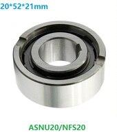 10pcs ASNU20 NFS20 20*52*21mm One Way Clutch Roller Type Bearings Sprag Freewheel Backstop