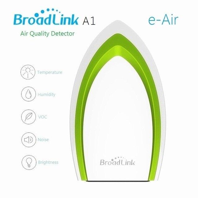 Broadlink aire smart a1 e-aire wifi detector de calidad del aire pm2.5 prueba de humedad del aire, purificador de aire de control remoto casa inteligente