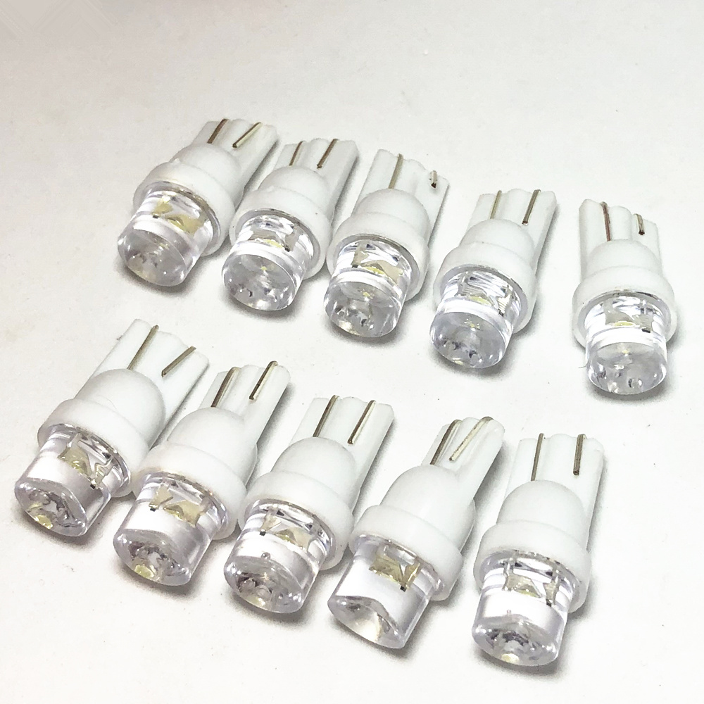 50 шт. габаритные огни T10 W5W светодиодный 194 168 SMD светодиодный ных автомобильных огней, светодиодная парковочная лампа, белая Автомобильная вн...
