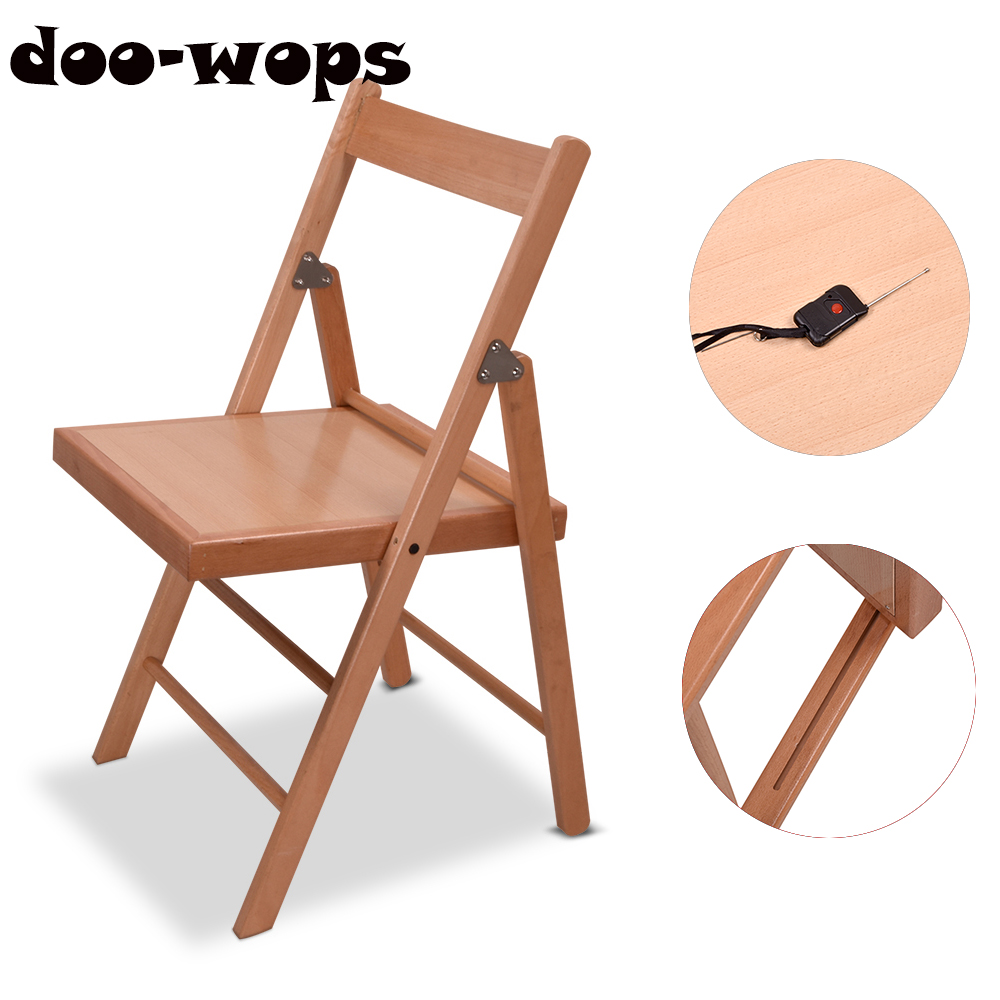 Electronic Folding Chair Fall Apart Chair Magic Tricks For Magician Stage Illusions Gimmick Accessories Mentalism Comedy Magica