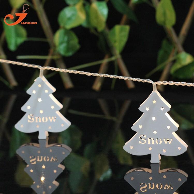 LED Lichtsnoer metal Christmas tree santa lighting (3)