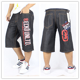 ФОТО Watch ! Cheap fashion luxury brand Hip-hop pants short jeans red and white patterned letters printed pant hip-hop trousers