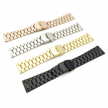 цена на Stainless Steel WatchBand For iWatch Apple Watch Band Strap Link Bracelet Accessories 38mm 42mm Folding Clasp With Adapter