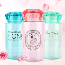 Fashion and creative diamond-shape cups candy color transparent ruggedness cups conveniently portable leak-proof cups travel