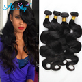 4 bundles Indian 100% Virgin Hair for black women with hair bundles nice weave for long time body wave human hair From Ali Sky