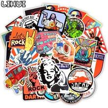 50 PCS Retro Style Sticker Graffiti Travel Funny JDM Sticker