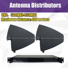 Antenna Amplifier, arena conference wireless microphone antenna distributors up to 400 meters 4 Channel Distributors